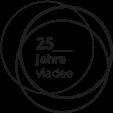 Logo zum 25. Jubiläum der viadee