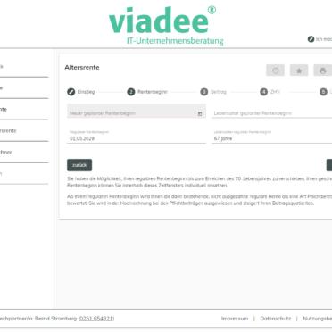 ViViR®-on Anwartschaftsrechner – Berechnung diverse Szenarien jeweils satzungsindividuell