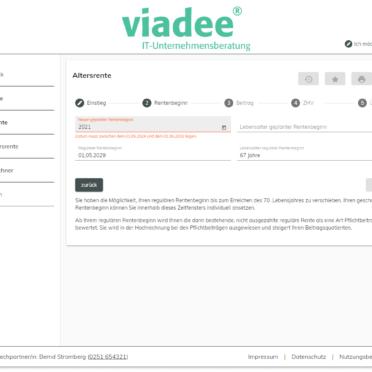ViViR®-on Anwartschaftsrechner – Berechnung für einen vorgezogenen oder hinausgeschobenen Rentenbeginn