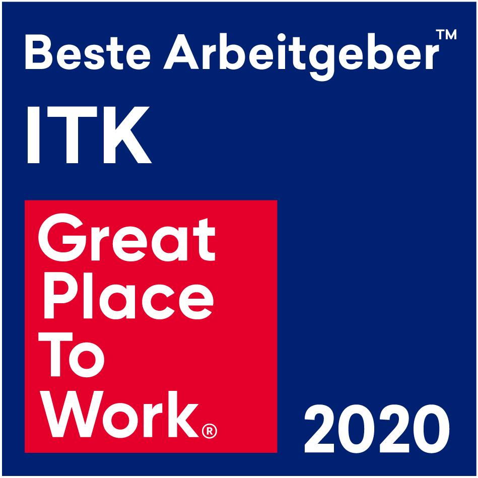 Auszeichnung Great Place to Work ITK 2020