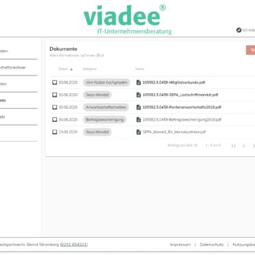 Dokumentenarchiv mit Filterfunktionen zum schnellen Auffinden von Dokumenten