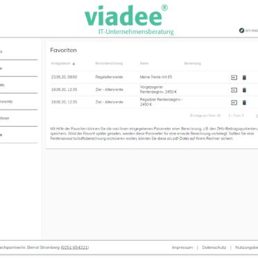 ViViR®-on Anwartschaftsrechner – Speicherung von Parametern als Favoriten