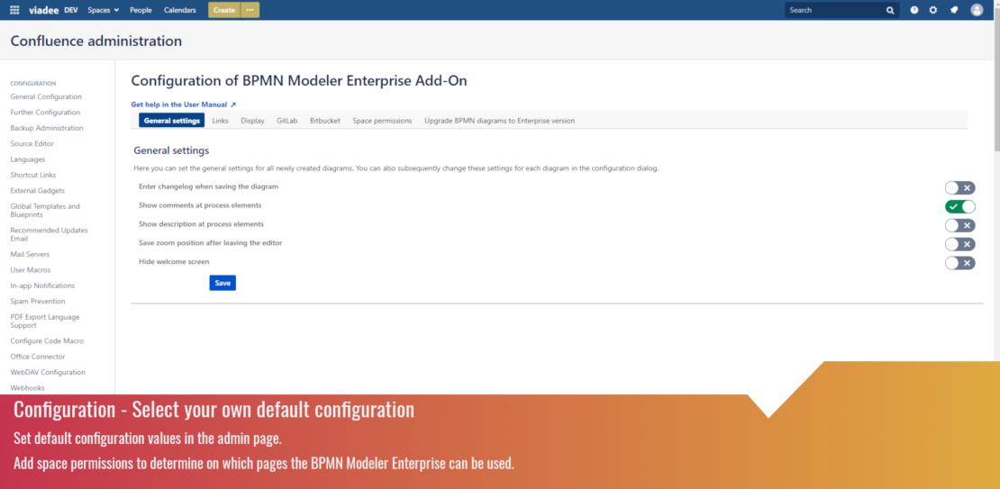 Select your own default configuration