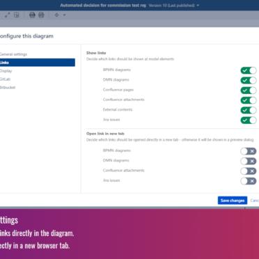Configure link settings