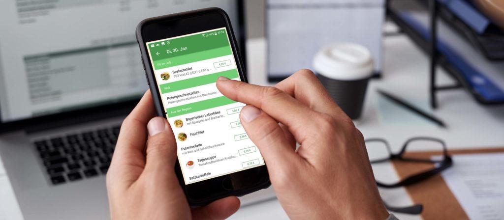 bestellbar - per App bestellen in der Kantine