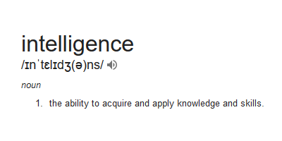 intelligence Definition